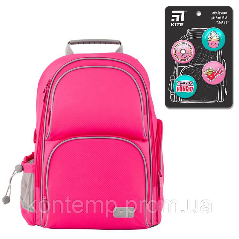 Рюкзак шкільний каркасний Kite Education K19-702M-1 Smart рожевий