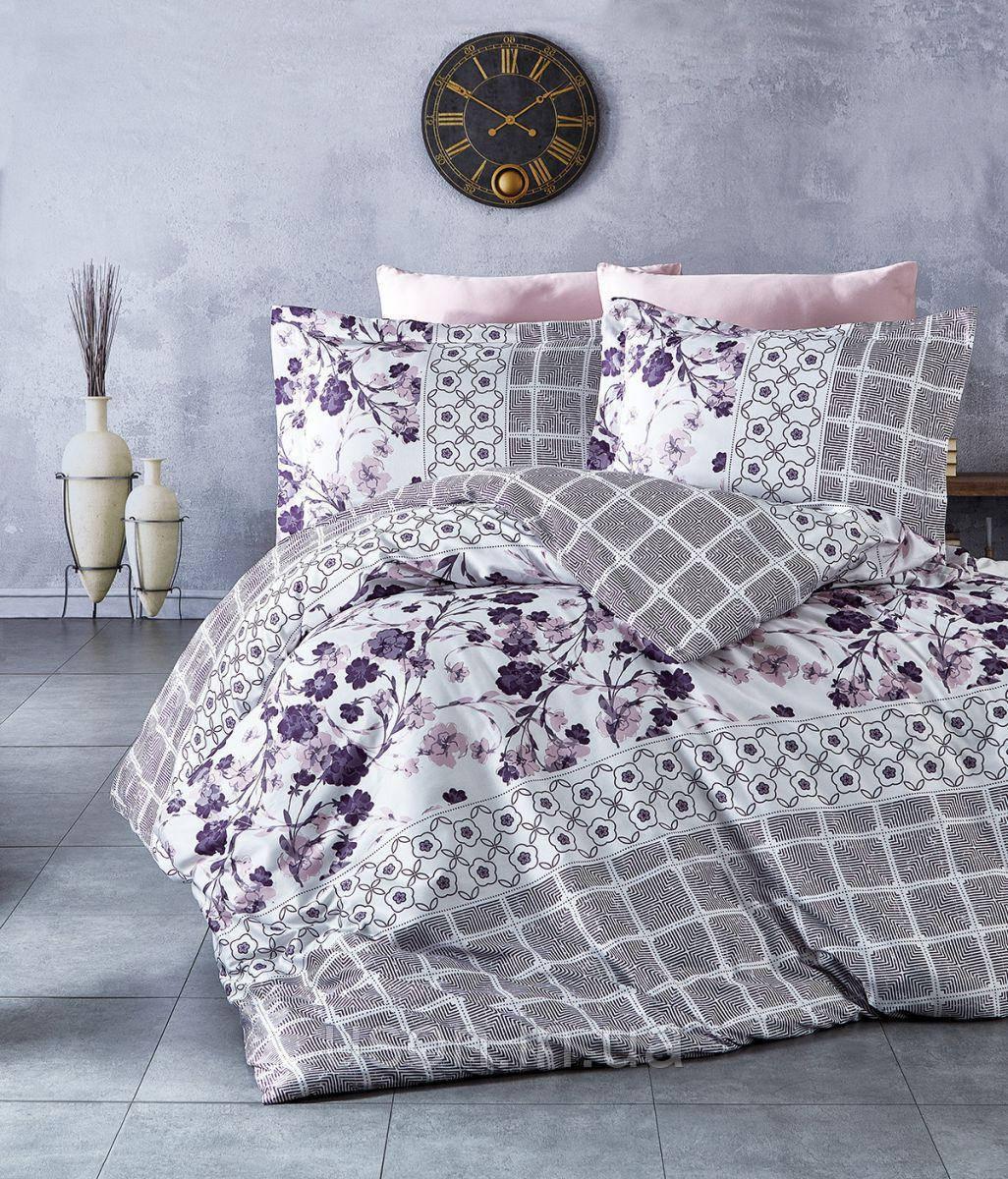 Комплект постельного белья TM Nazenin сатин размер евро Epix pudra