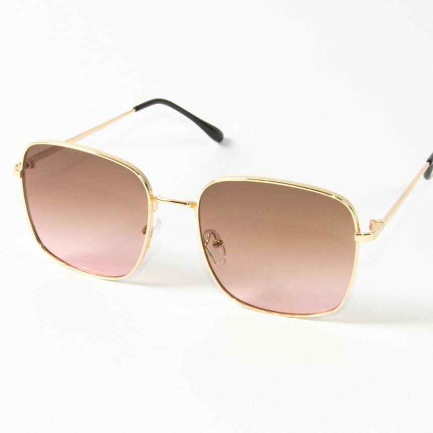 Оптом квадратные  солнцезащитные очки (арт. 80-661/1) коричневые, фото 2