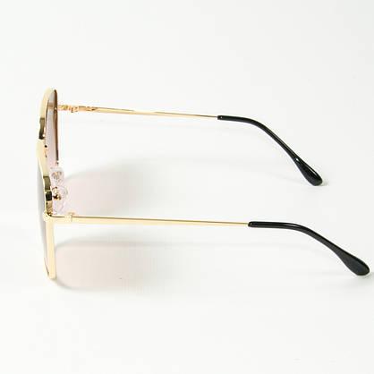 Оптом квадратные  солнцезащитные очки (арт. 80-661/1) коричневые, фото 3