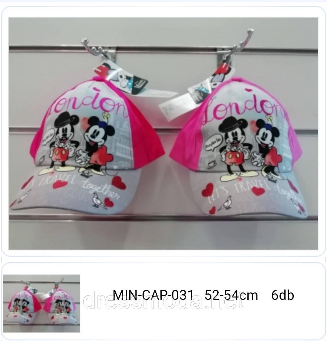 Бейсболки детские для девочек Minnie от Disney 52-54 cm