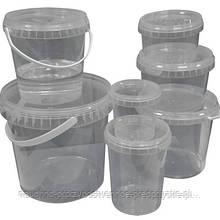Ведро пищевое 3 литра прозрачное.