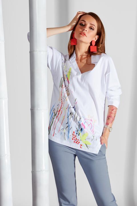 Белая женская рубашка Noche Mio, MARRAKESH  6.094