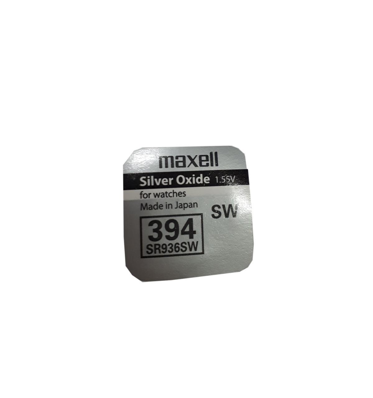 Часовая батарейка Maxell SR 936 SW G9 (394)опт