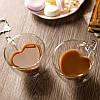 Кружка стеклянная Сердце с двойным дном и стенками 150 мл, фото 3