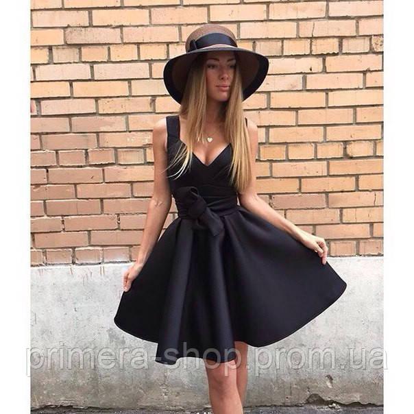 b2c88bb8d08 Платье черное миди с пышной юбкой