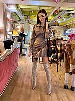 Костюм двойка - юбка с воланом и рубашка