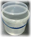Ведро пищевое прозрачное с крышкой 10 л., фото 2
