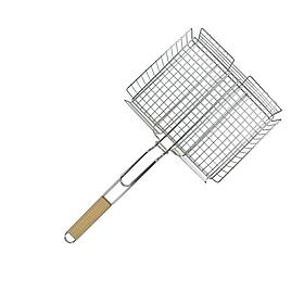 Решетка-гриль с корзиной Sunday 250 х 310 мм ручка 560 мм (73-505)