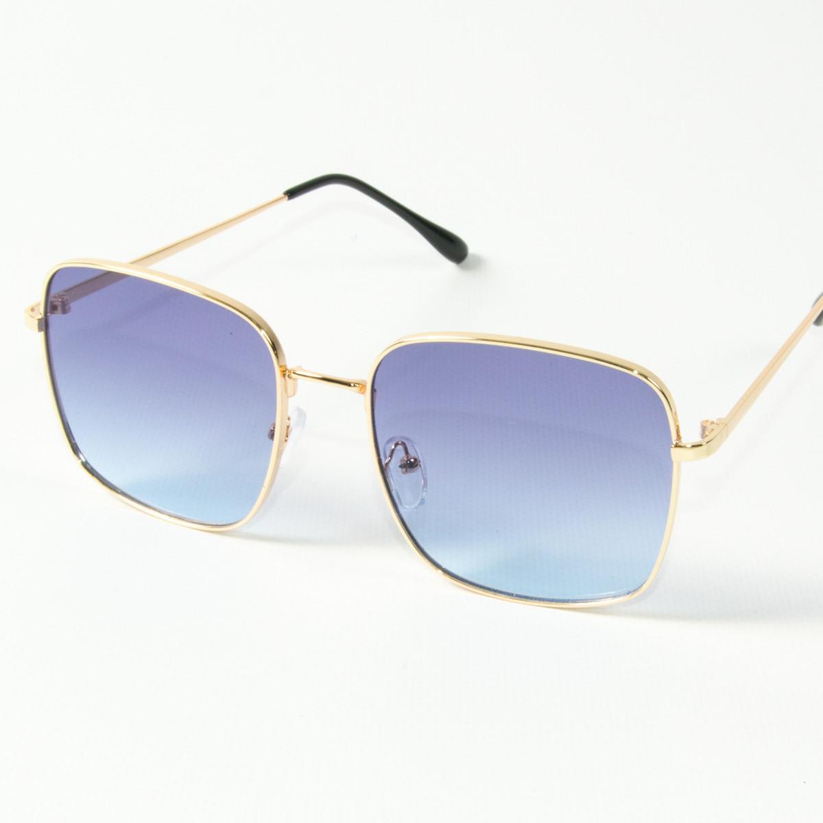 Оптом квадратные  солнцезащитные очки (арт. 80-661/2) голубые