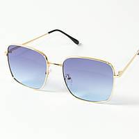 Оптом квадратные  солнцезащитные очки (арт. 80-661/2) голубые, фото 1