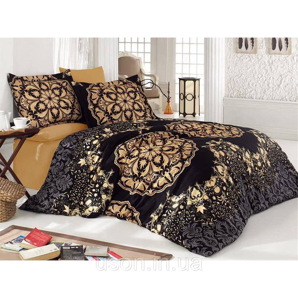 Комплект постельного белья TM Nazenin сатин размер евро Golden