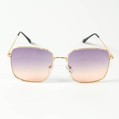 Оптом квадратные  солнцезащитные очки (арт. 80-661/3) фиолетово-розовые, фото 2