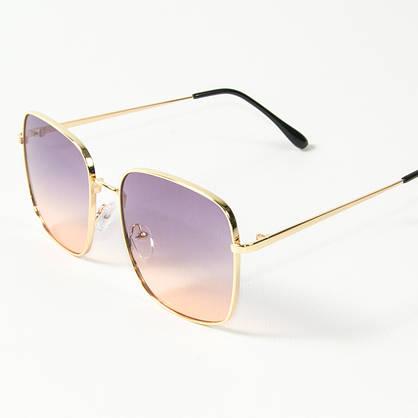 Оптом квадратные  солнцезащитные очки (арт. 80-661/3) фиолетово-розовые, фото 3