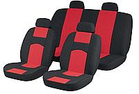Авто Чехлы ВАЗ 2107 черно-красные Tuning