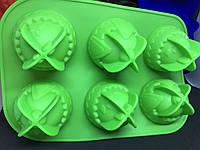 Форма для выпечки пасхальных яиц силиконовая 6 ячеек