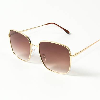Оптом квадратные  солнцезащитные очки (арт. 80-661/4) темно-коричневые, фото 3