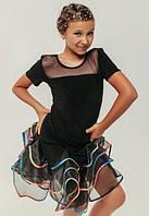 """Юбка для танцев """"Гавана""""(с бирюзовой отд р.32) (блуза """"Зигзаг"""" в наличии р.36)"""