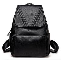 Рюкзак женский из кожзама Kaila Vanoton Черный, фото 1