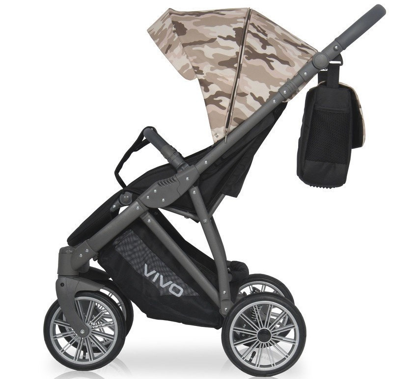 Детская универсальная прогулочная коляска Expander Vivo Military 01