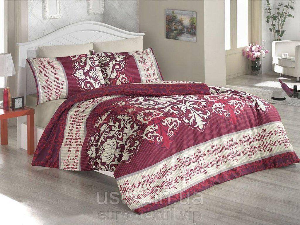 Комплект постельного белья TM Nazenin сатин размер евро Katerina bordo