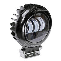 Фара LED круглая 30W (3 диода) black, фото 1
