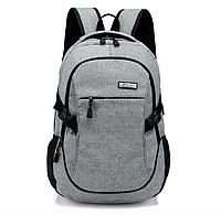Рюкзак городской Taolegy Meijieuo с выходом для зарядки Серый