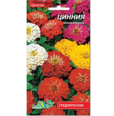 Цинія суміш квіти однорічні, насіння 0.6 г
