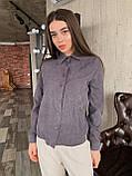 Рубашка женская вельветовая, олива, графит, джинс, фрез, фото 3