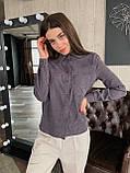 Рубашка женская вельветовая, олива, графит, джинс, фрез, фото 4