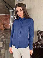 Рубашка женская вельветовая, олива, графит, джинс, фрез, фото 1