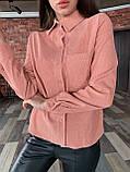 Рубашка женская вельветовая, олива, графит, джинс, фрез, фото 5