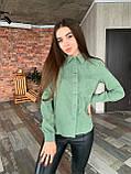 Рубашка женская вельветовая, олива, графит, джинс, фрез, фото 8
