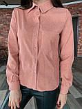Рубашка женская вельветовая, олива, графит, джинс, фрез, фото 6