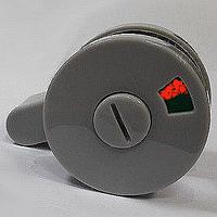 Защелка накладная с индикатором пластиковая дверная