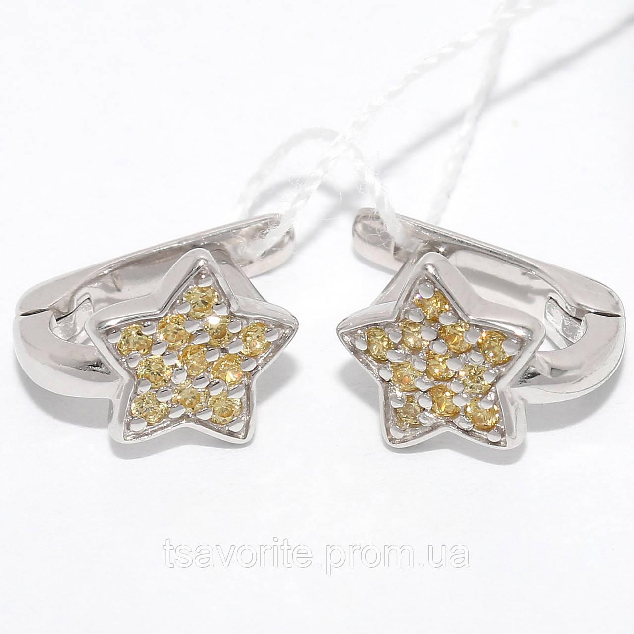 Серебряные серьги СЖХ-35