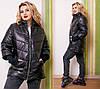 Удлинённая женская куртка на молнии с карманами синтепон 100 48- 50, 52-54, 56-58, фото 2