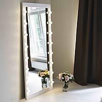 Деревянное гримерное зеркало с подсветкой