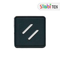Нашивка Ромб на рюкзак ПВХ (Lash Tab PVC) Серый
