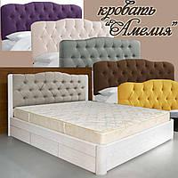 Кровать двуспальная деревянная 160х200 «Амелия» с ящиками, с подъемным механизмом белая из дерева