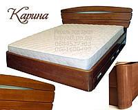 Кровать двуспальная деревянная 160х200 «Карина» с ящиками, с подъемным механизмом белая из дерева