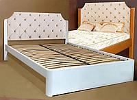 Кровать двуспальная деревянная 160х200 «Луиза» с ящиками, с подъемным механизмом белая из дерева