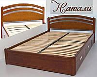 Кровать двуспальная деревянная 160х200 «Натали» с ящиками, с подъемным механизмом белая из дерева
