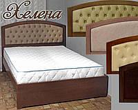 Кровать двуспальная деревянная 160х200 «Хелена» с ящиками, с подъемным механизмом белая из дерева
