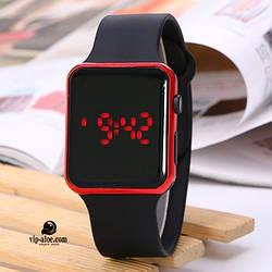 Светодиодные наручные часы   LED Watch   Цифровые Часы   Красные   светодиодные