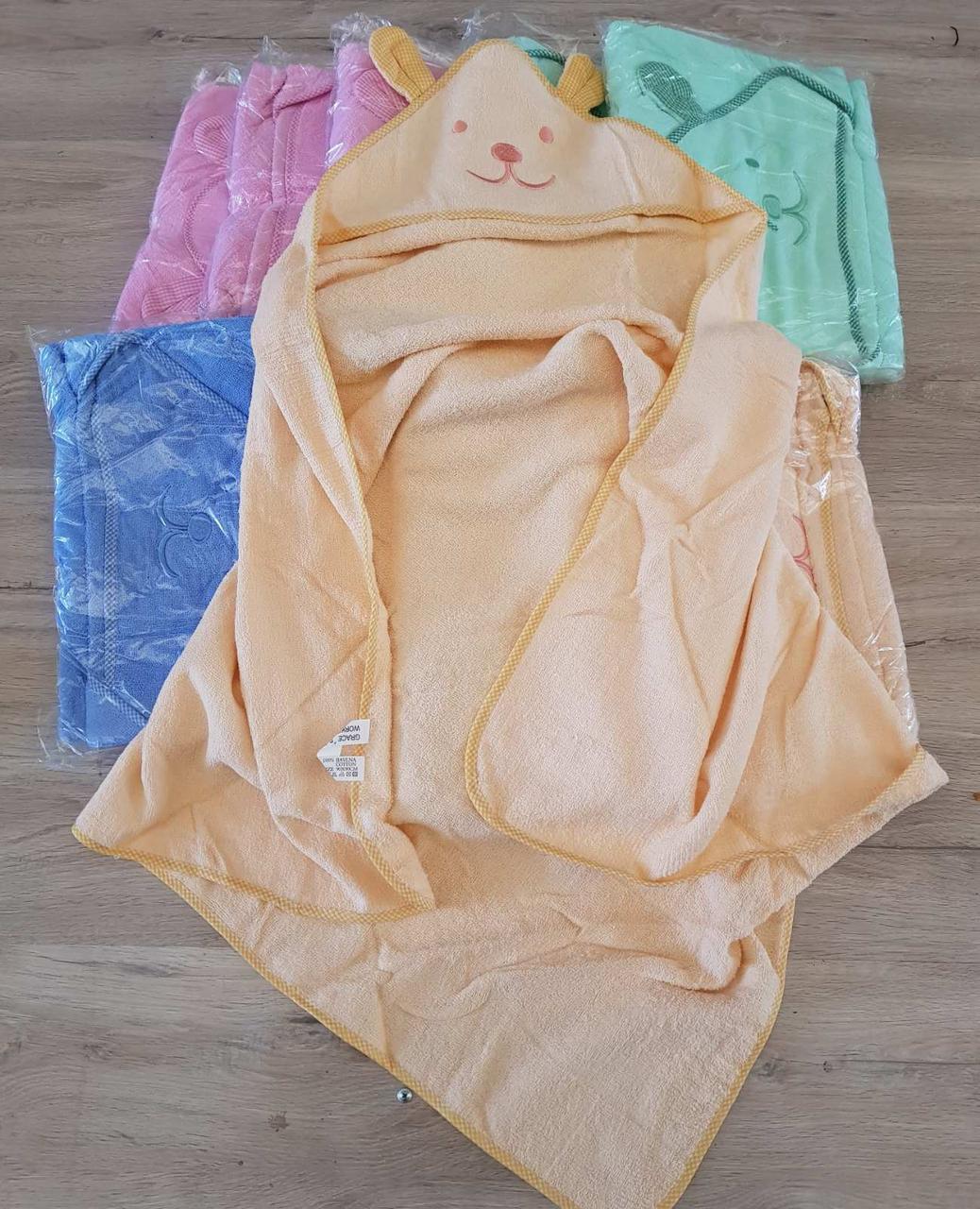 Детское махровое полотенце уголок Мишка