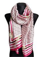 Шелковый шарф Карина, 190*100 см, розовый