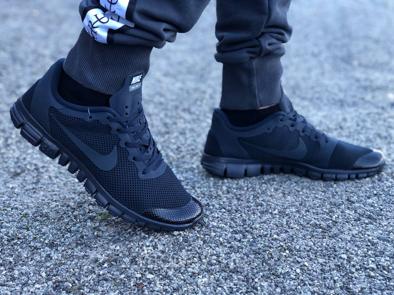 Кроссовки мужские синие Nike Free Run 3.0 реплика