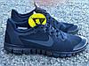 Кроссовки мужские синие Nike Free Run 3.0 реплика, фото 5