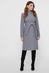 Женское пальто, серое, р.42-52